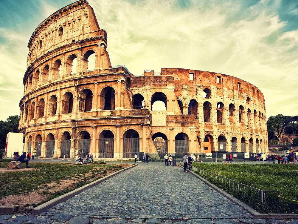 The Colosseum, a piece of architecture studied bY the students in AP Art History.