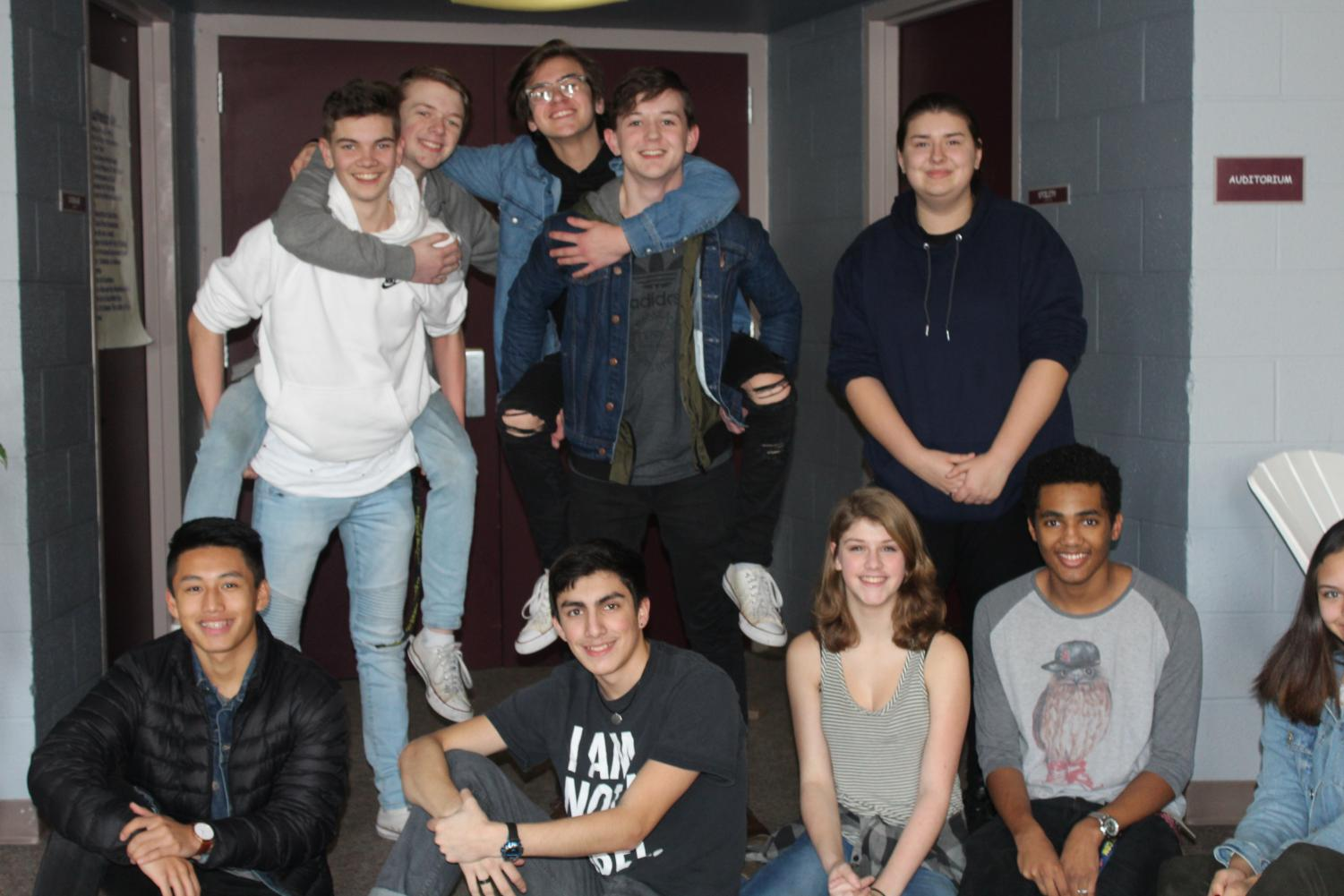 CHS Drama Students. From Top Left to Right:  Joseph Kaylor, Kaden Moss, Phillip Kushuba, Lukas Hurley, August Villalobos. Bottom Left to Right:  Alex Vue, Christopher Mendez, Melody Howard, Trenton Ruffin, and Aliya Falls.
