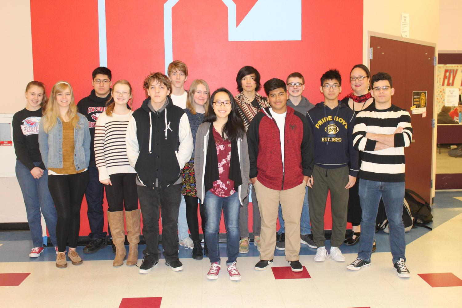 Speech and Debate Team gather together. The Speech Team dominated their latest tournament.