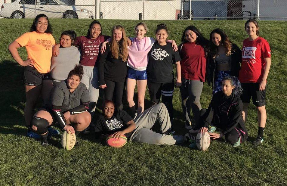Girls Rugby Team.