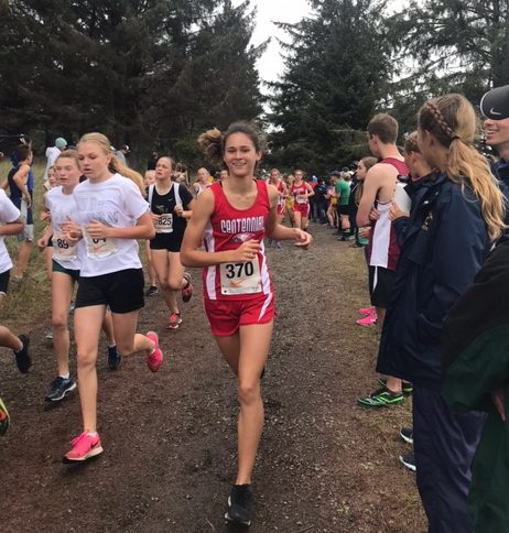 Senior Maddie McHone competes at Camp Rilea in Warrenton earlier this month.