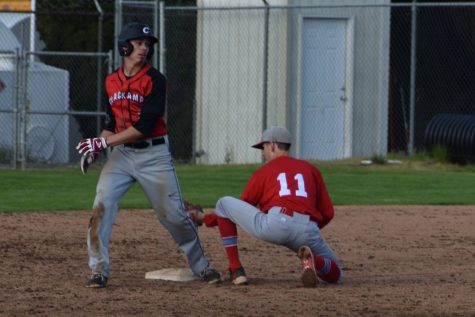 Brendan Ritchsard puts the tag down on opponent