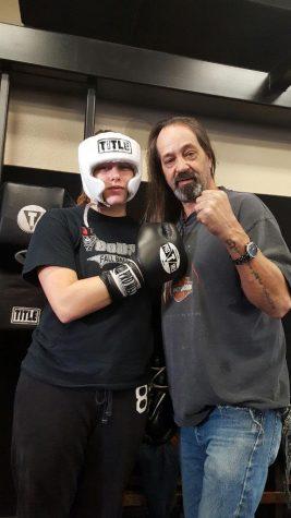 Emeila Michael with coach Curtis Grecco.