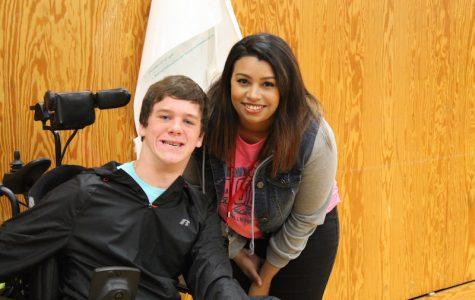 Alyssa hall with student Matt Vachter.