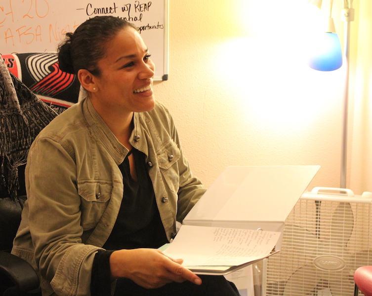 Rosanne Rivera runs the TriO Program.