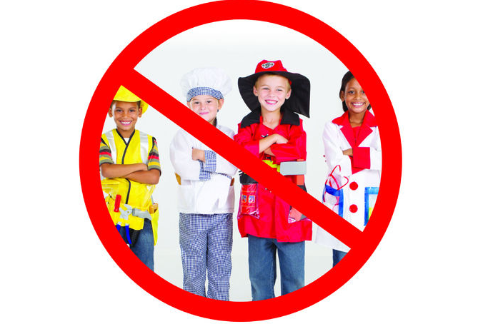 This year is was decided that Halloween costumes were not allowed to be worn to school.