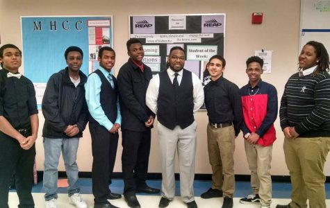 Pictured left to right: Brooklyn Bryant, Herbert Scruggs, Louis Salazar, Dameco Brown, Daniel Shelton, Tre Wilson, Jeremiah Rush, Junel Jeannis-Ostin.