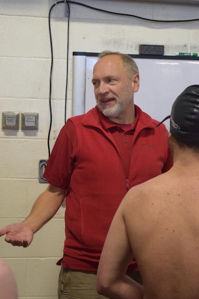 Rod Lundgren has been coaching the Centennial swimming team for a total of 18 years. Lundgren's goal for this season is place as high possible in the league championships.