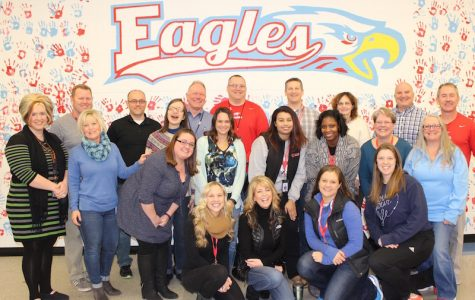 """""""Once an Eagle, Always an Eagle"""" rang true for 27 Eagle alumni who graduated between 1974 and 2010 as they now work in the same halls they once roamed.   There are no official records kept about these sort of things, but an informal East-County poll of schools shows that most schools have only three or four alumni working in their buildings.    """"I believe it's a reflection on the community. As students graduate, they want to come back and give students the great experience that they had,"""" said Assistant Principal Mark Porterfield, who graduated in 1974.  Twenty-one of the grads are pictured here.  Read below to see a story on each of them.    Editor's Note:  For personal reasons, one alumni declined to participate in this story."""