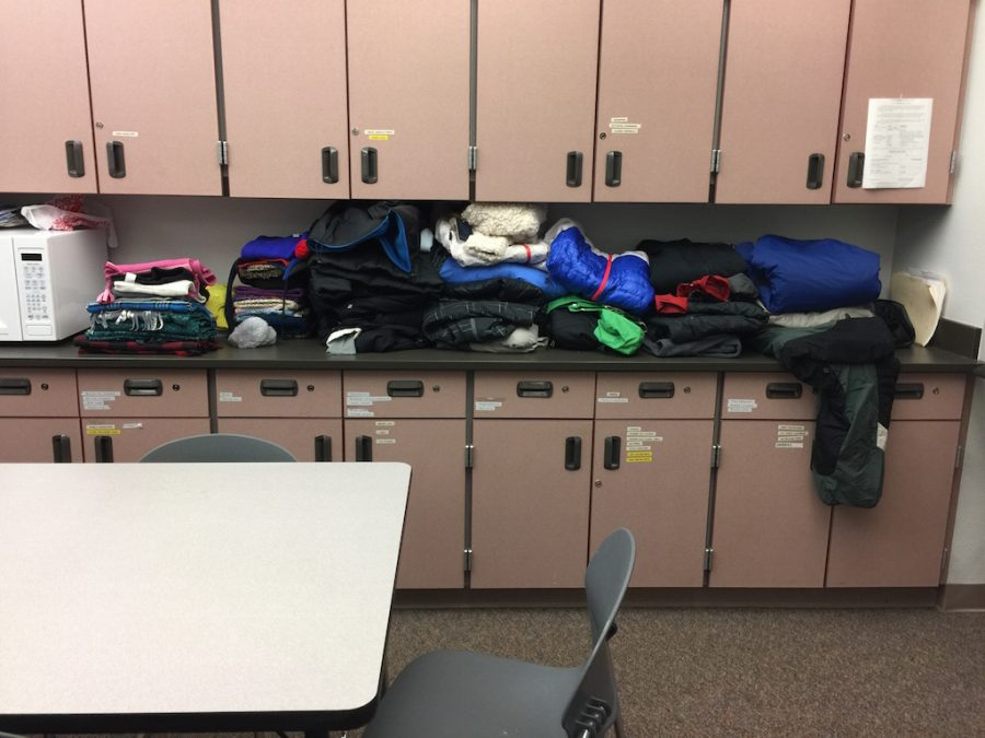 Warm clothes can be donated or picked up from the main office.