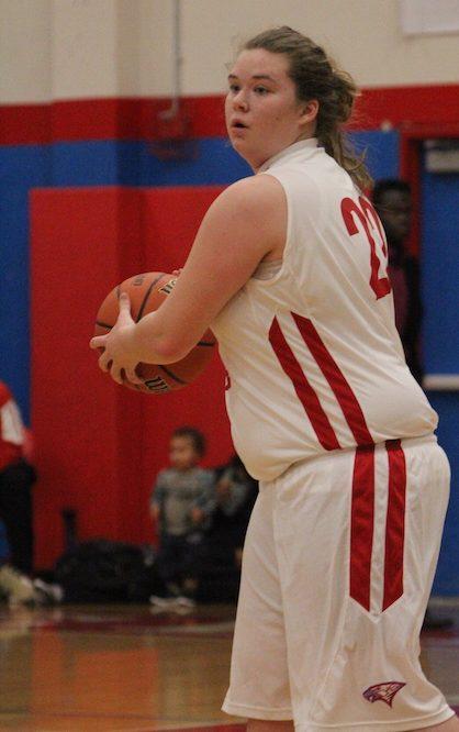 Senior Megan Byram looks for a cutter against Oregon City.