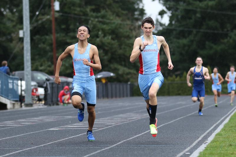 Senior Layon Mchone runs to the finish line in the 800m.