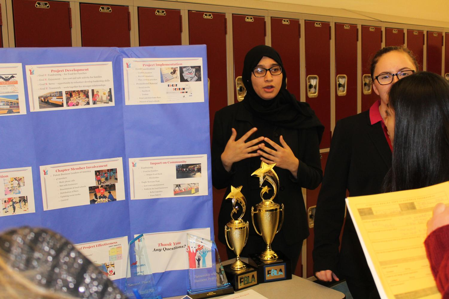 Students Show Class Project To Parents At Eagle Expo Last Year
