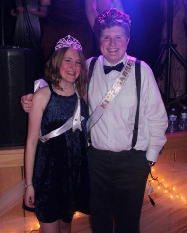Emma Dobesh and Garrett Charles win winter formal court.