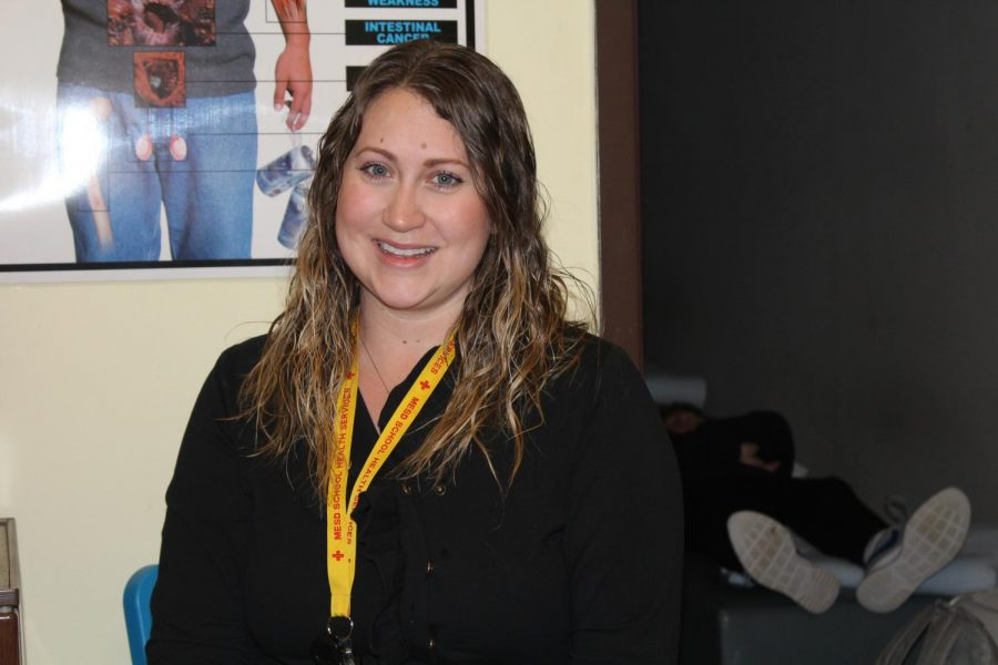 Jenny Hoesly enjoys taking care of students. Hoesly stated that getting the cold/flu is a very common problem among students.