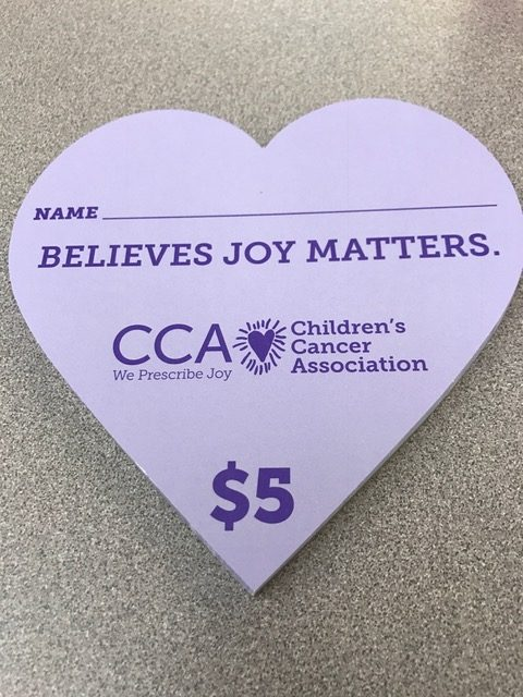 Hearts of Joy are currently being sold by National Honor Society. The fundraiser is being held to raise money for the Children's Cancer Association.