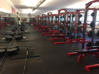 The weight room undergoes extensive remodel.  Luke Franzke was proud of how it turned out.