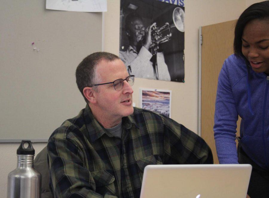 Doug Paul teaches Simone Willingham, junior. He has many ongoing goals and aspirations as a teacher.