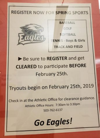 Spring Sports Deadline Approaches