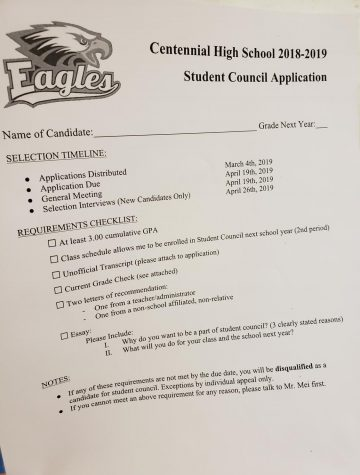 ASB Application Materials Due April 19