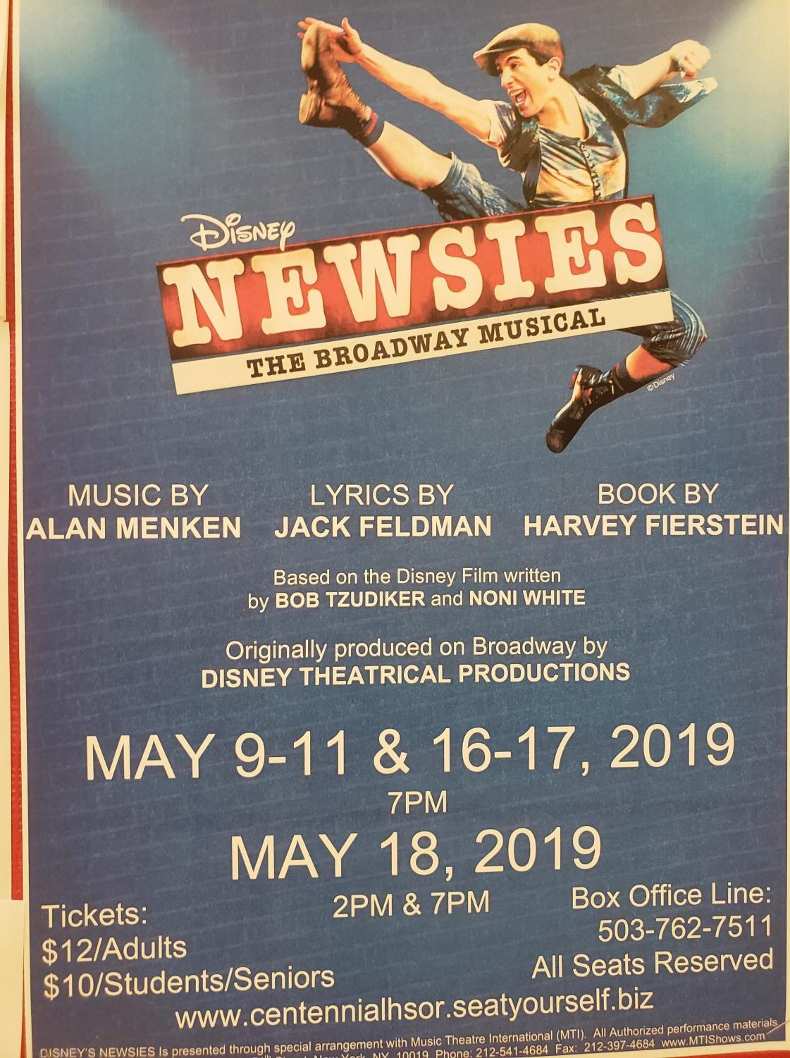 Drama Hosts Newsies in May