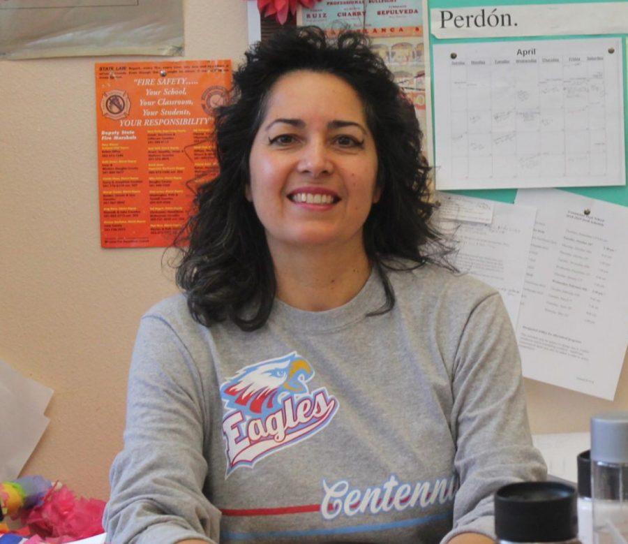 Spanish teacher Lia Larson.