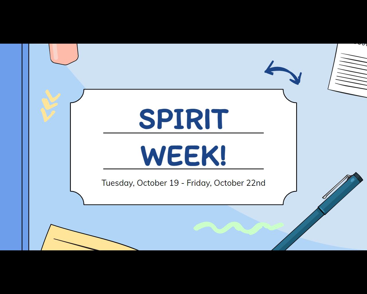October Spirit Week