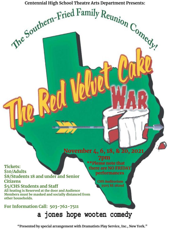 CHS Presents - THE RED VELVET CAKE WAR